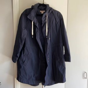 H&M canvas coat with hood